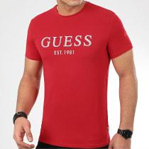 Tee Shirt M0GI93-J1300 Rouge Argenté
