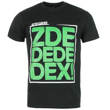 Neochrome - Tee Shirt Zdedededex Noir Typo Vert