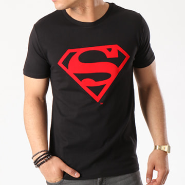 DC Comics - Tee Shirt Red Logo Noir