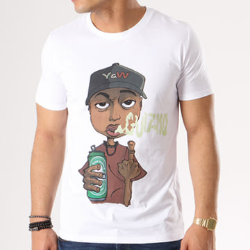 Y et W - Tee Shirt Guizmo Perso Blanc