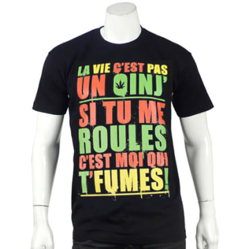 Y et W - Tee Shirt Guizmo Oinj Noir Rasta