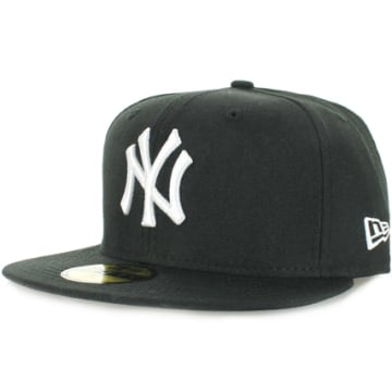 Casquette Snapback Fitted 59Fifty NY Yankees Basic Noir Blanc