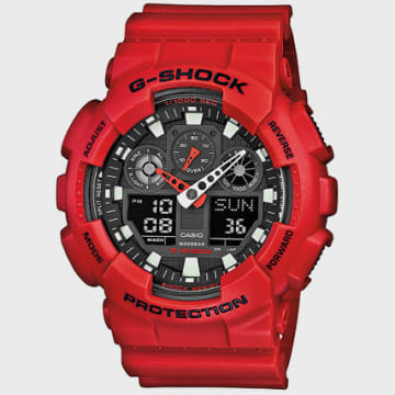 Casio - Montre Casio G-Shock GA-100B-4AER Rouge
