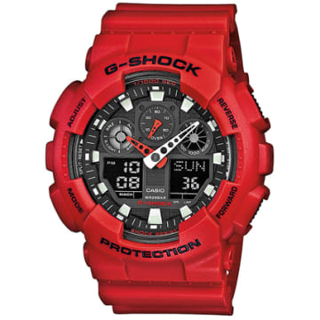 Casio - Montre Casio G-Shock GA-100B-4AER Rouge
