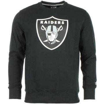 Sweat Crewneck Team Logo Oakland Raiders Noir