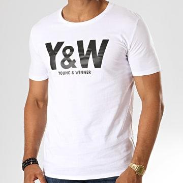 Y et W - Tee Shirt Logo Blanc Noir