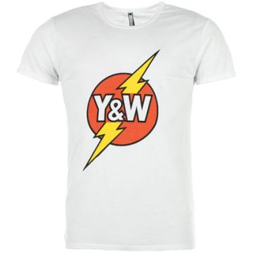 Y et W - Tee Shirt Y et W Lightning Blanc