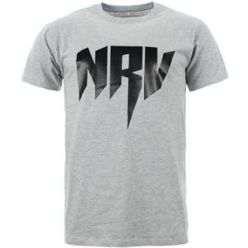 Sadek - Tee Shirt Sadek NRV Gris Chiné Logo Noir