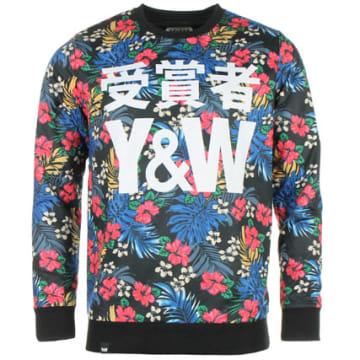 Y et W - Sweat Crewneck Reversible Y et W Floral Reverse Black