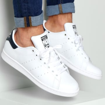 Adidas Originals - Baskets Stan Smith M20325 Running White New Navy