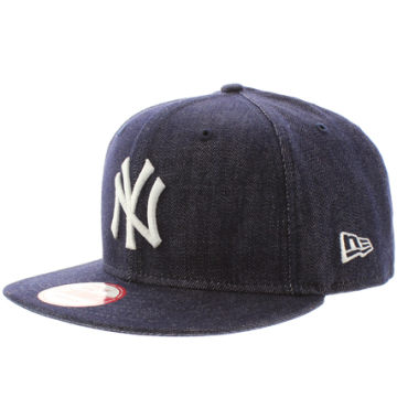 Casquette Snapback Denim Basic New York Yankees Bleu Marine