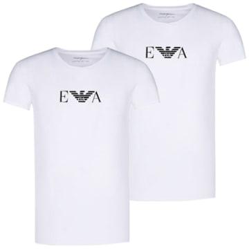 Emporio Armani - Lot De 2 Tee Shirts Emporio Armani Girocollo Blanc