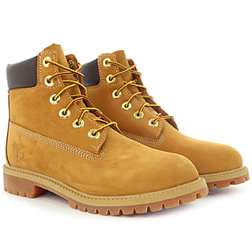 Timberland - Boots Femme Icon 6 Inch Premium Boot 12909 Wheat Nubuck Camel