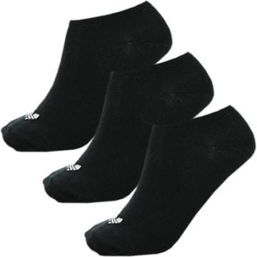 Adidas Originals - Lot De 3 Paires De Chaussettes Invisibles Trefoil Liner S20274 Noir