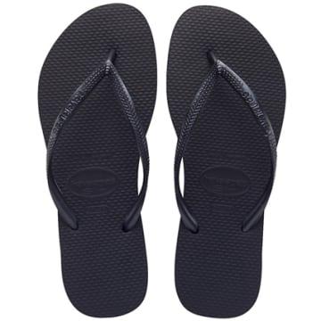 Havaianas - Tongs Femme Slim Noir