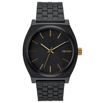 Nixon - Montre Time Teller Matte Black Gold