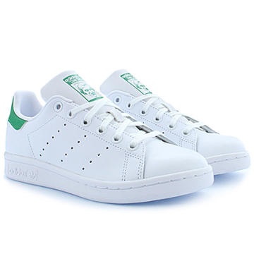 Adidas Originals - Baskets Femme Stan Smith M20605 Footwear White Green