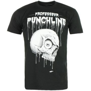 Neochrome - Tee Shirt Professeur Punchline Noir