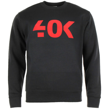 40K Gang - Sweat Crewneck Classic Noir Rouge