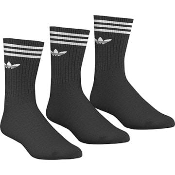 Adidas Originals - Lot De 3 Paires De Chaussettes De Sport S21490 Noir