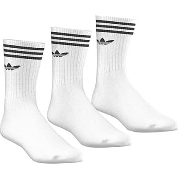 Adidas Originals - Lot De 3 Paires De Chaussettes De Sport S21489 Blanc