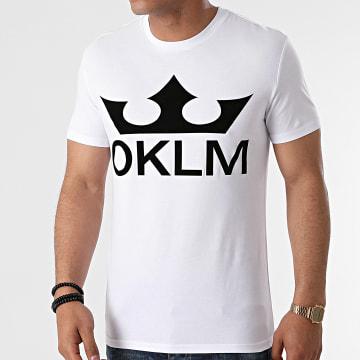 OKLM - Tee Shirt Big Logo Blanc Typo Noir