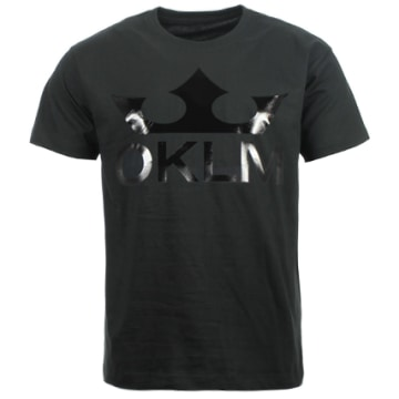OKLM - Tee Shirt Big Logo Noir Typo Noir
