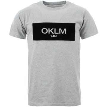 OKLM - Tee Shirt Small Crown Gris Typo Noir