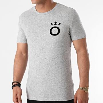 OKLM - Tee Shirt Small O Gris Typo Noir