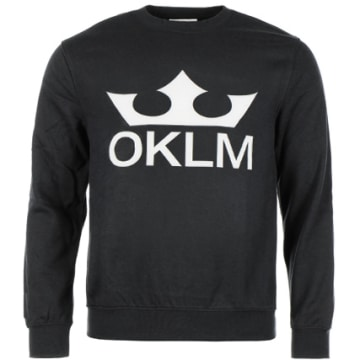OKLM - Sweat Crewneck Big Logo Noir Typo Blanc