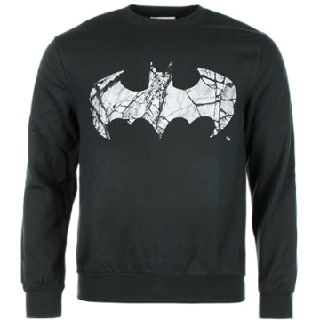Sweat Crewneck Cracked Logo Noir
