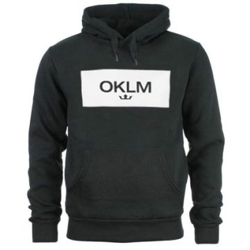 OKLM - Sweat Capuche Small Crown Noir Typo Blanc