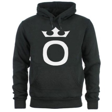 OKLM - Sweat Capuche Big O Noir Typo Blanc