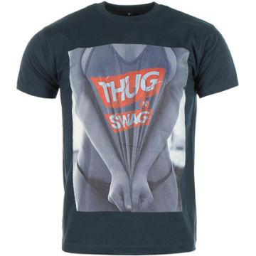 Thug N Swag - Tee Shirt Pull Down Bleu Marine