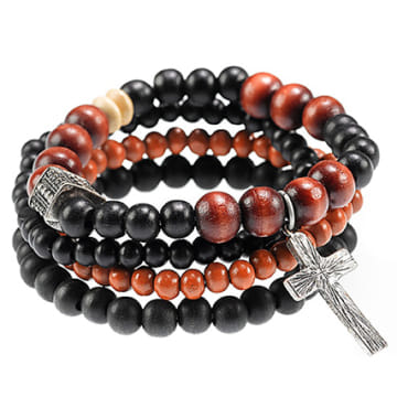 Icon Brand - Lot De 4 Bracelets Try Combo Noir