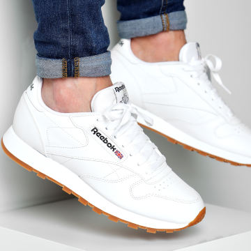 Reebok - Baskets Classic Leather 49799 Blanc