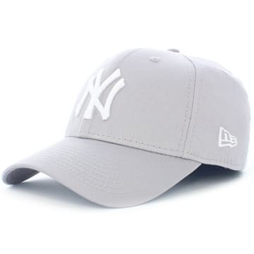 New Era - Casquette 39Thirty League Basic New York Yankees Gris Blanc