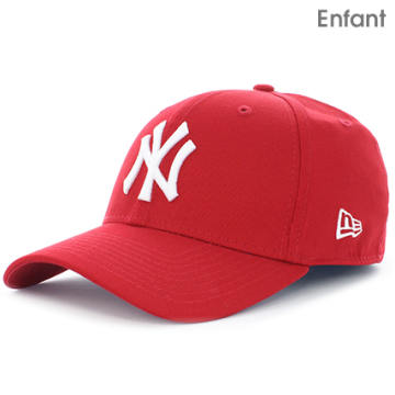 Casquette Enfant 9Forty MLB League Basic New York Yankees Rouge Blanc
