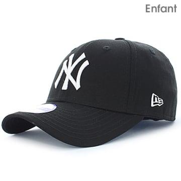 New Era - Casquette Baseball Enfant 940 League Basic 9 Forty New York Yankees Noir Blanc