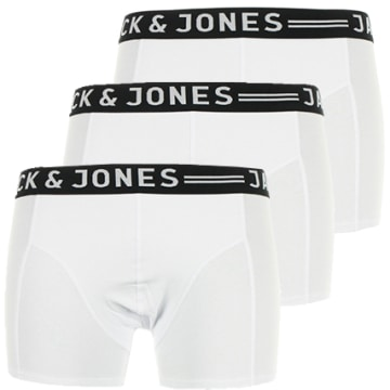 Jack And Jones - Lot De 3 Boxers Sense Blanc