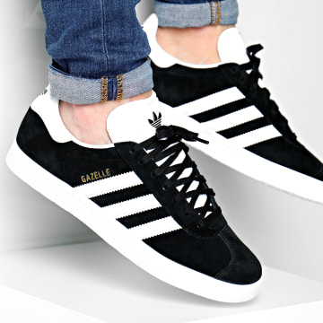 Adidas Originals - Baskets Gazelle BB5476 Core Black White Gold Metallic