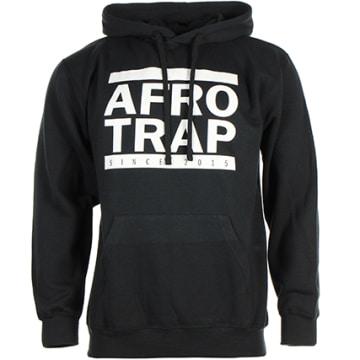 Sweat Capuche Afro Trap Noir
