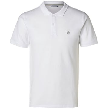 Selected - Polo Manches Courtes Aro Embroidery Blanc