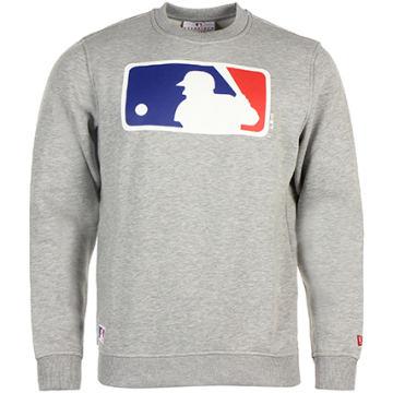 New Era - Sweat Crewneck MLB Logo Gris Chiné