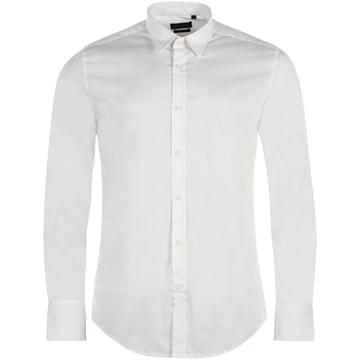 Chemise Manches Longues Basic Blanc