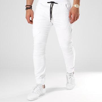 Jogger Pant P6085 Blanc Noir
