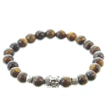 Bracelet Lava Stones Buddha Marron