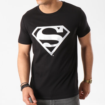 DC Comics - Tee Shirt Superman Logo Argent Noir