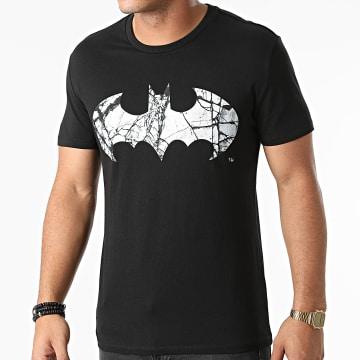 DC Comics - Tee Shirt Batman Cracked Logo Noir