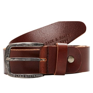 Jack And Jones - Ceinture Paul Leather Marron Foncé